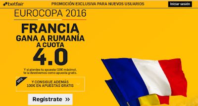 betfair Francia gana Rumania supercuota 4 Eurocopa 2016 10 junio