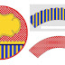 Blue, Red and Yellow: Free Printable Cupcake Toppers and Wrappers.