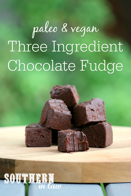 Three Ingredient Healthy Chocolate Fudge Recipe – paleo, vegan, sugar free, clean eating recipe, dairy free, egg free, nut free, healthy, raw, healthy valentines day recipes