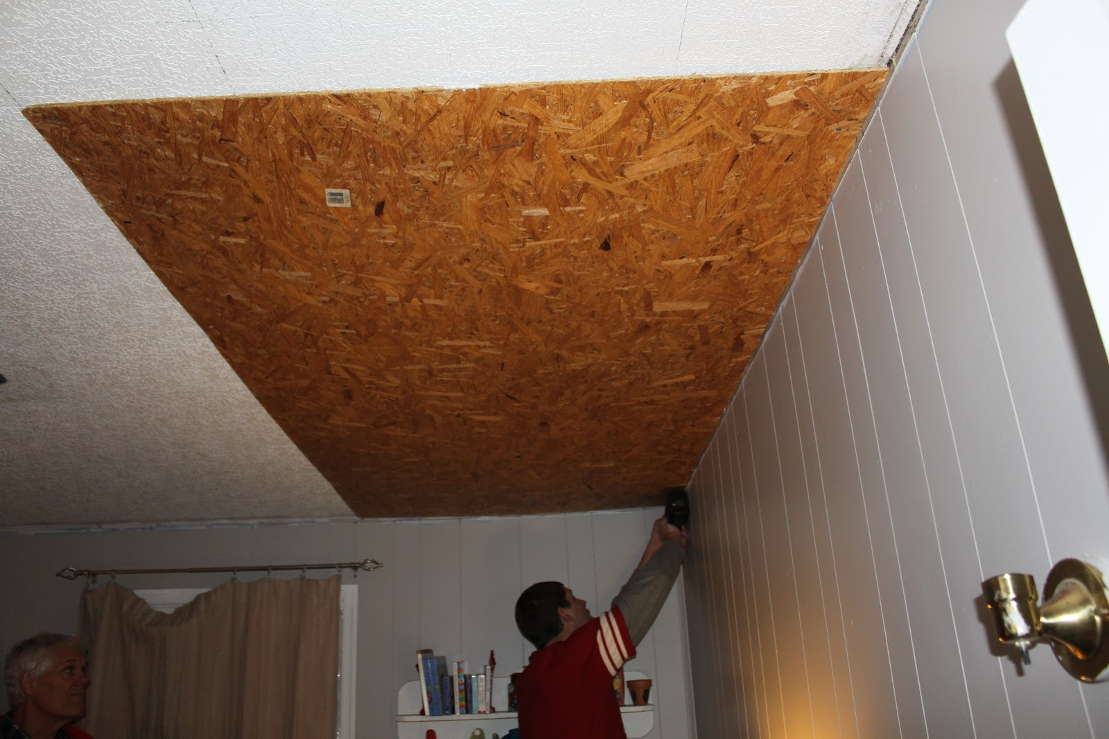 basement wood ceiling ideas. Rustic Pallet Wood Ceiling Tutorial Remodelaholic