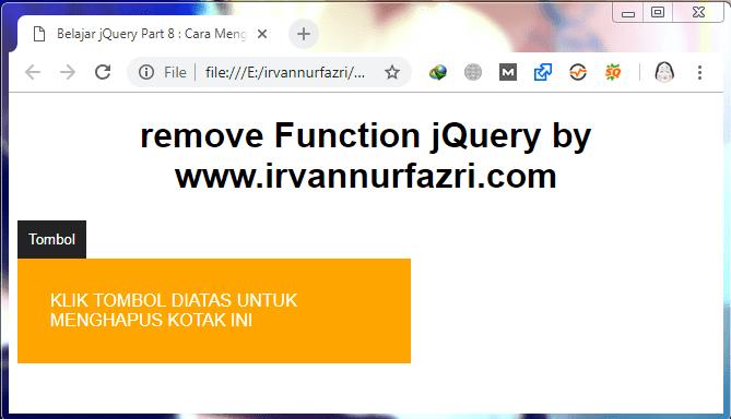 Cara Menghapus Element dengan Fungsi remove() jQuery - #IRVANGEN