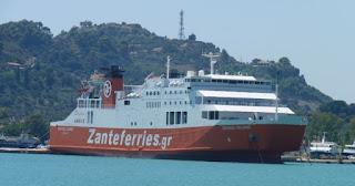 Ferry hacia Zante.