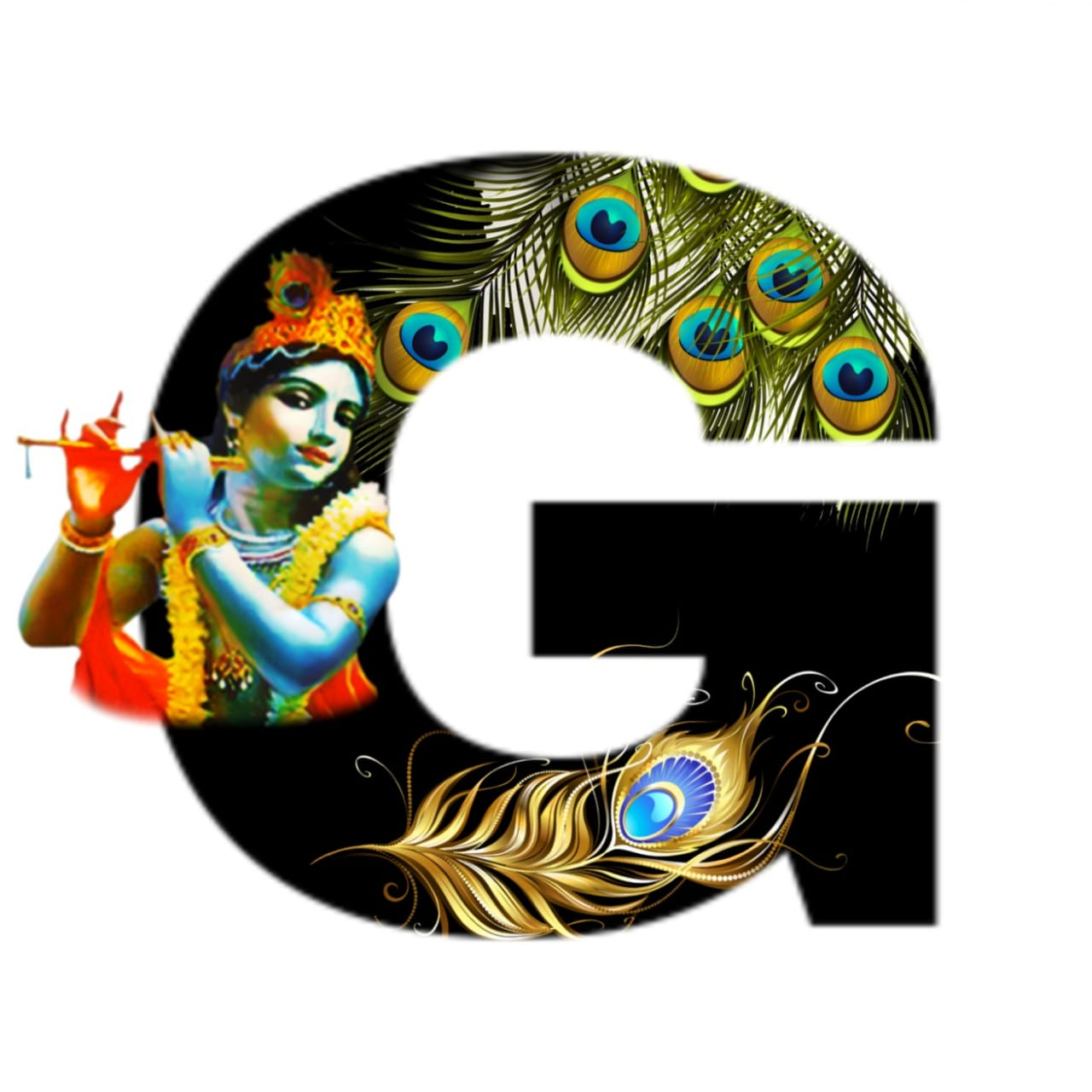 shree krishna alphabet g images