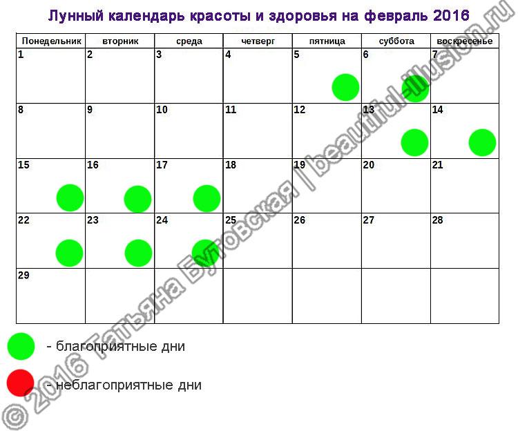 Диета на лунный календарь на 2016