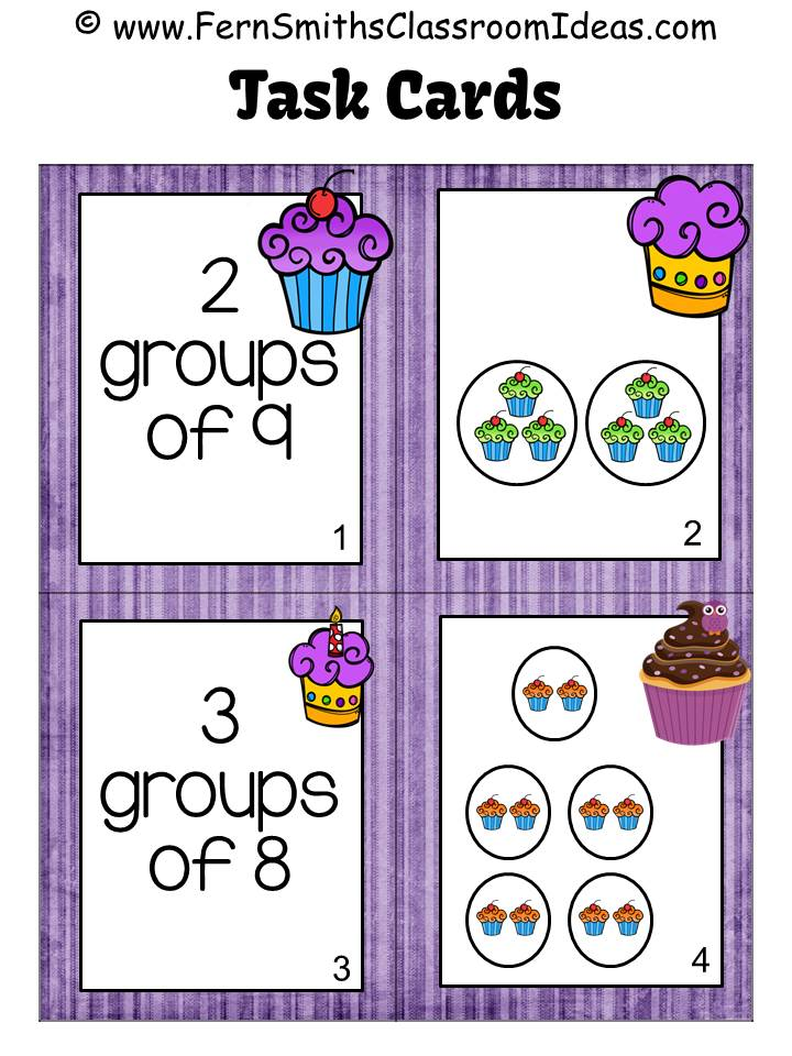 FREE Four Task Cards for Relate Addition to Multiplication for 3.OA.A.1