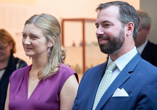 Hereditary Grand Duke Guillaume and Hereditary Grand Duchess Stéphanie attended the opening of the exhibition