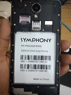symphony p6 pro 3gb ram firmware