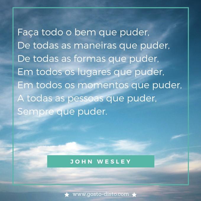 Pensamento de John Wesley