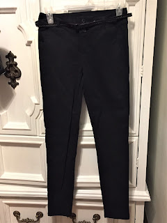 Belted Skinny Dress Pants
