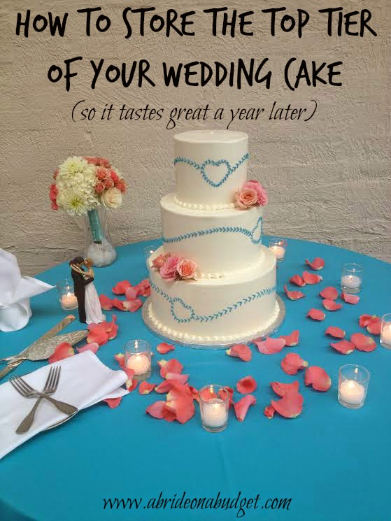 eating wedding cake 1 year later a on a budget how to the top tier of your 13870