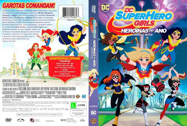 Capa DVD DC Super Hero Girls Heroínas Do Ano