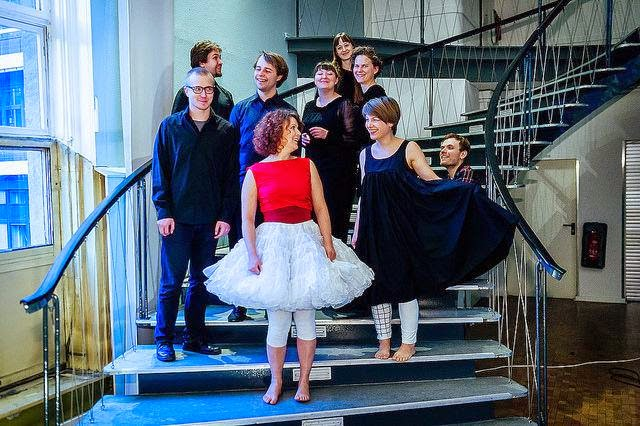 Cast and performers from Aikainen - photo credit Ulf Buschleb