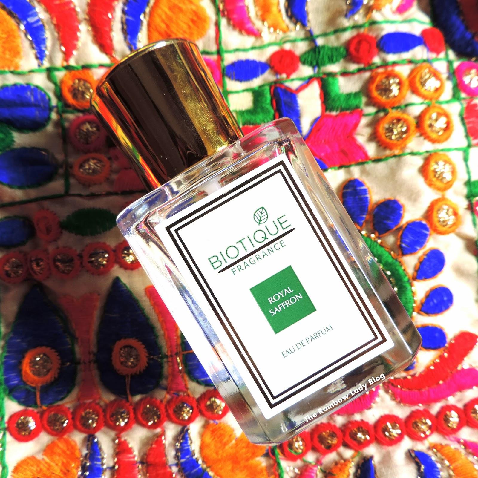 Biotique Fragrance    Royal Saffron - The Rainbow Lady Blog
