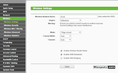 wireless setting