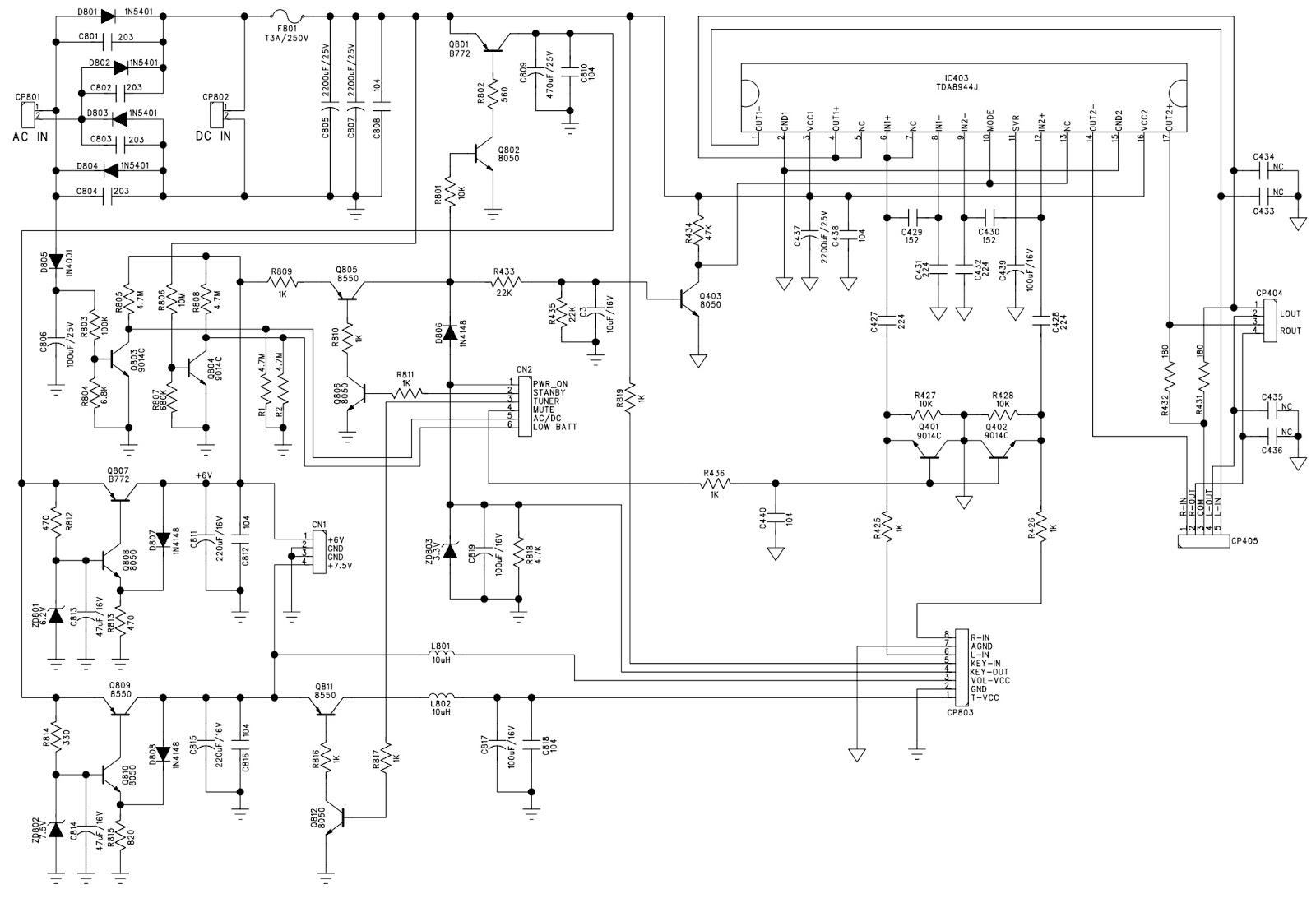 schematic diagram keyboard