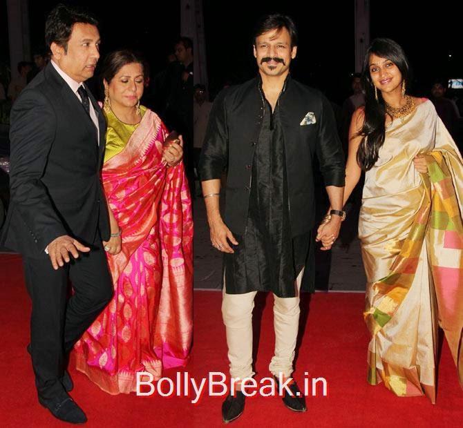 Shekhar Suman, Vivek Oberoi, Priyanka Alva, Photographs: Pradeep Bandekar, Celebs At Kush Sinha's reception
