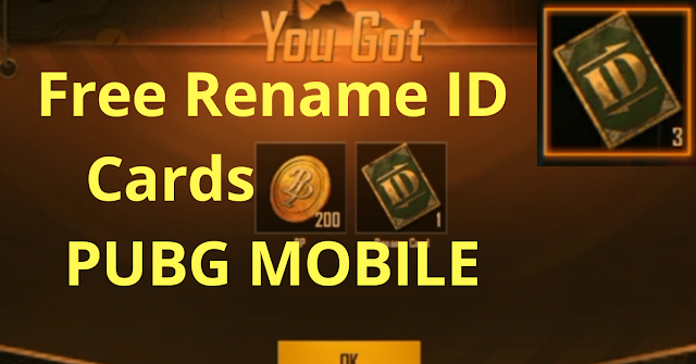 How to get Free Rename ID Cards for Pubg Mobile