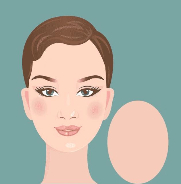 شكل الوجه المستدير البيضاوي