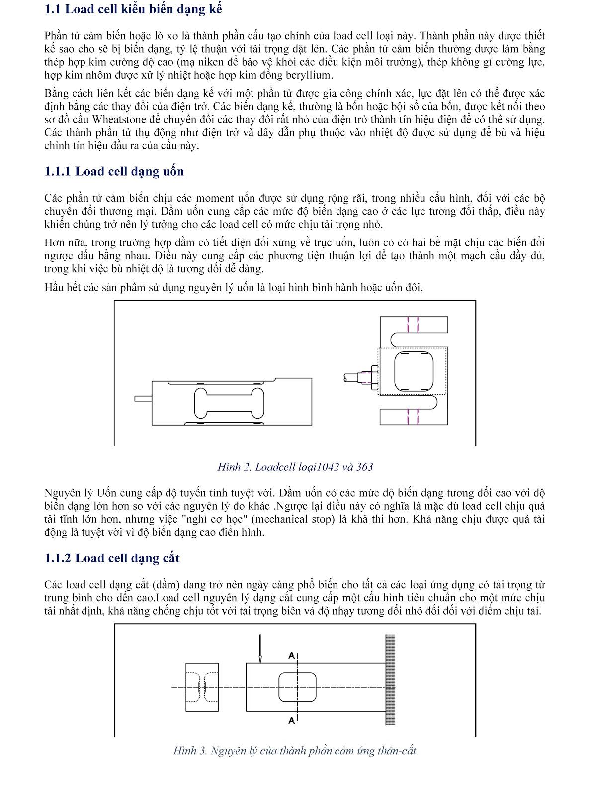 Lưu ý kỹ thuật về Load cell và module cân điện tử (tt) 2