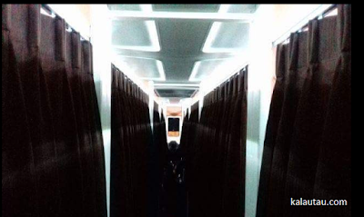 kalautau.com - buse mewah dengan fasilitas ruangan privasi seperti kamar