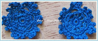 crochet ear ring, free crochet pattern, jewellery, doiley ear ring, anchor knitting cotton, red rose knitting cotton