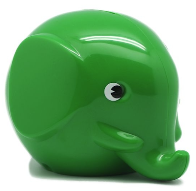 green elephant coin bank