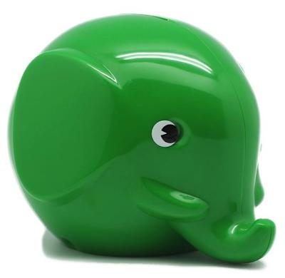 green elephant coin bank