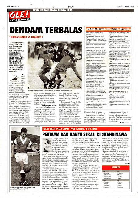 PEMANASAN PIALA DUNIA 1998: DENDAM TERBALAS