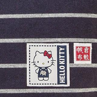 [Hello Kitty] Tote bag made in Japan Kurashiki canvas tote bag M Dark Navy