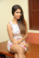 Nishi Ganda stunning cute in Flower Print short dress at Tick Tack Movie Press Meet March 2017 011.JPG