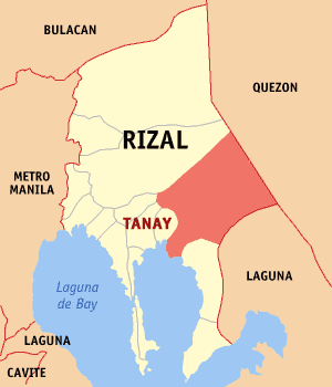 Tanay, Rizal map