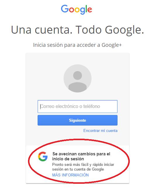inicio cuenta google