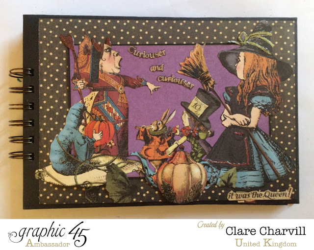 Halloween in Wonderland Scrap Book 3 Clare Charvill Graphic 45