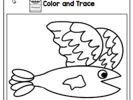 Preschool Fish Pattern Printable