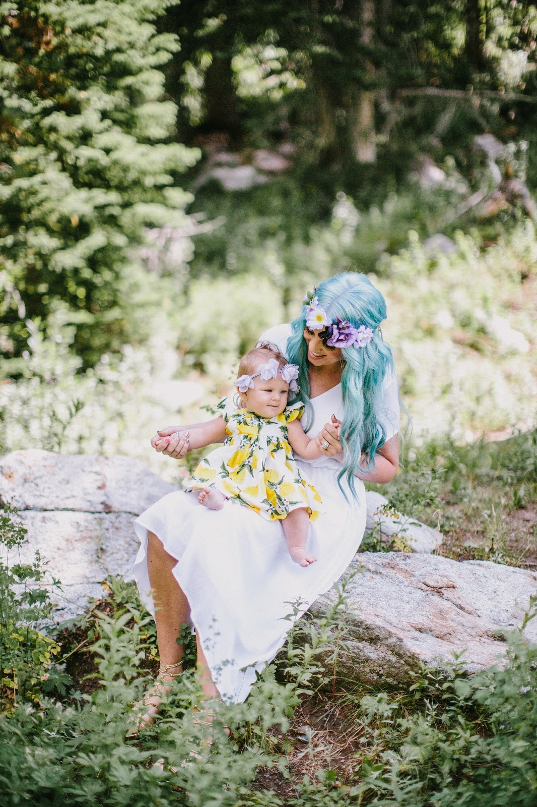 Blue Hair, Mommy and Me, Fashion Blogger