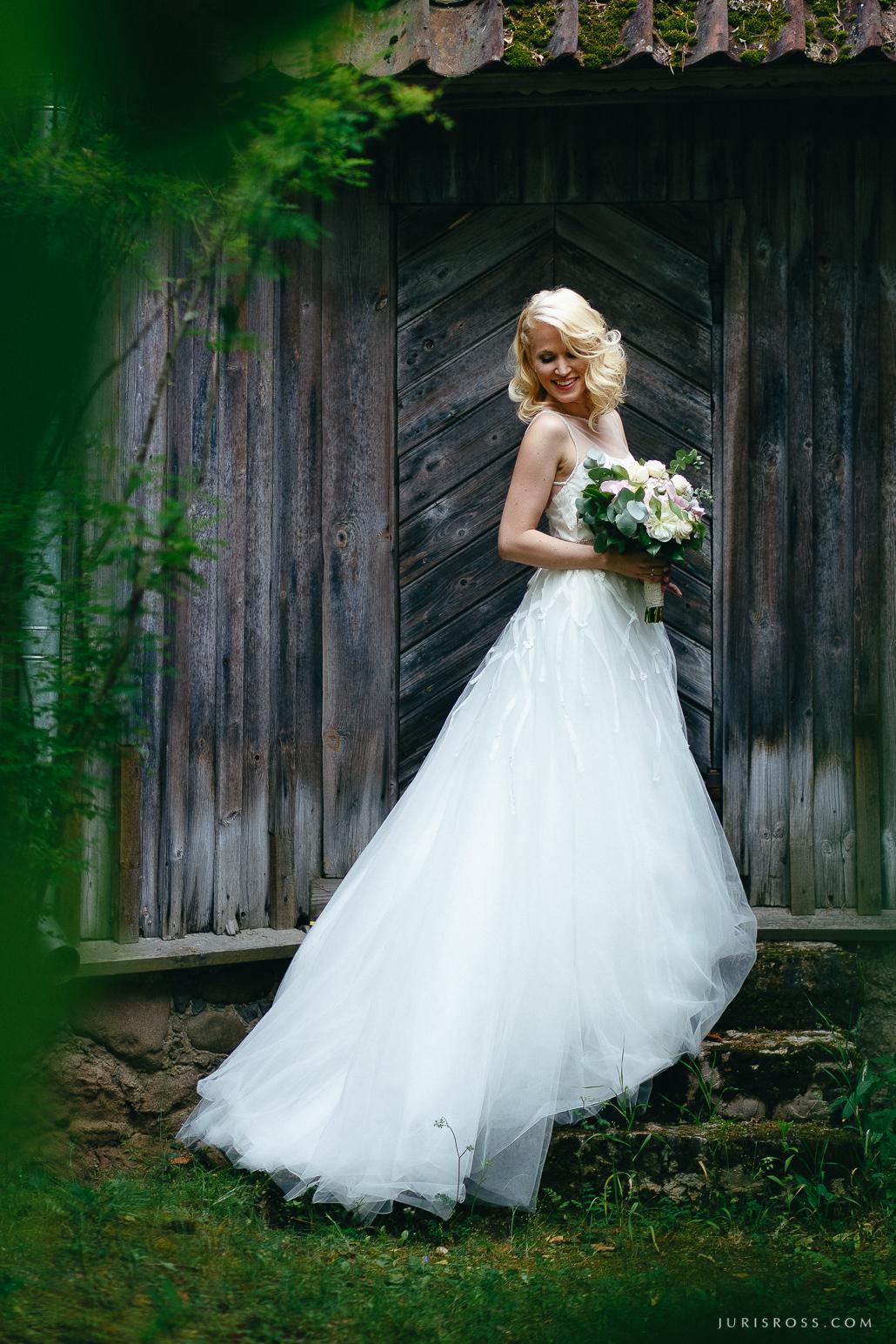 līgavas portrets kāzu kleita