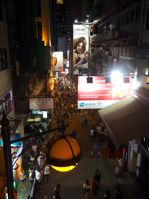 View down to Lan Kwai Fong (LKF), Central, Hong Kong