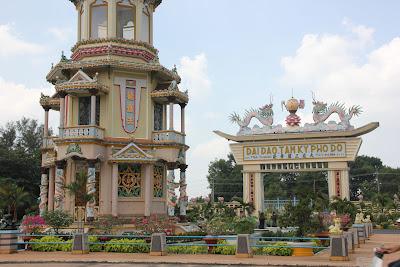 Gateway to Divine Cao Dai temple