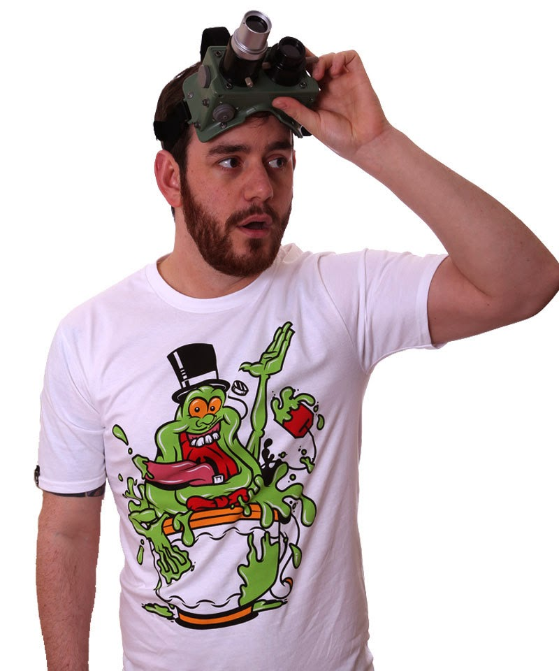 """Spud"" Ghostbusters T-Shirt By Edward Teabelly"