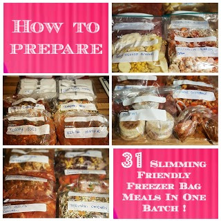 How to prepare 7 Slimming World friendly freezer meals in under one hour!