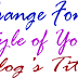 Change Font Style of Blogger Blog's Title