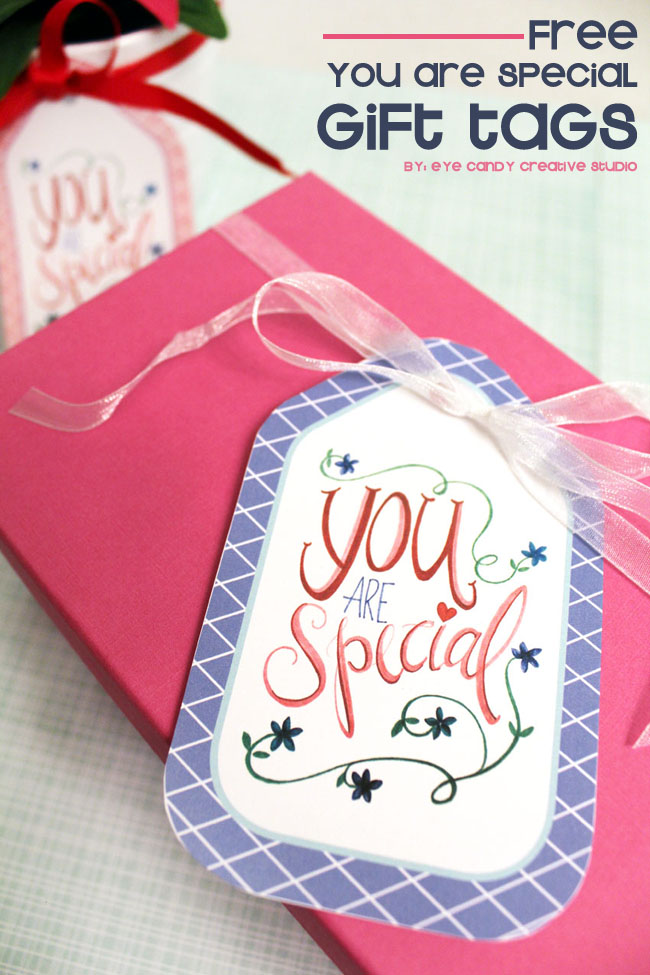 you are special, gift tags, hand lettering, floral design, mothers day