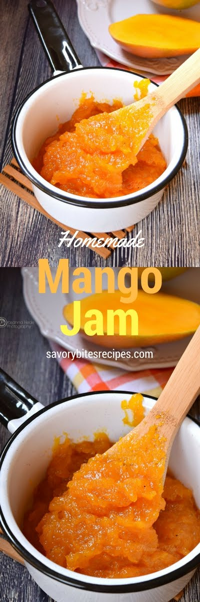 Mango Jam Homemade Easy Recipe No-preservative fruit jam condiment