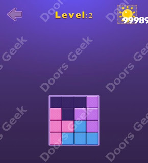 Cheats, Solutions, Walkthrough for Move Blocks Easy Level 2