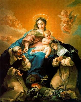 Resultado de imagen para santo domingo de guzman y el rosario
