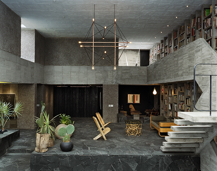 the concrete house of pedro reyes in mexico in the heart of a historic district of mexico city that the artist pedro reyes has just completed his house - Concrete House 2016