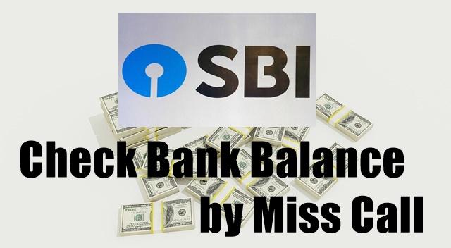 Check Bank Balance by Miss Call