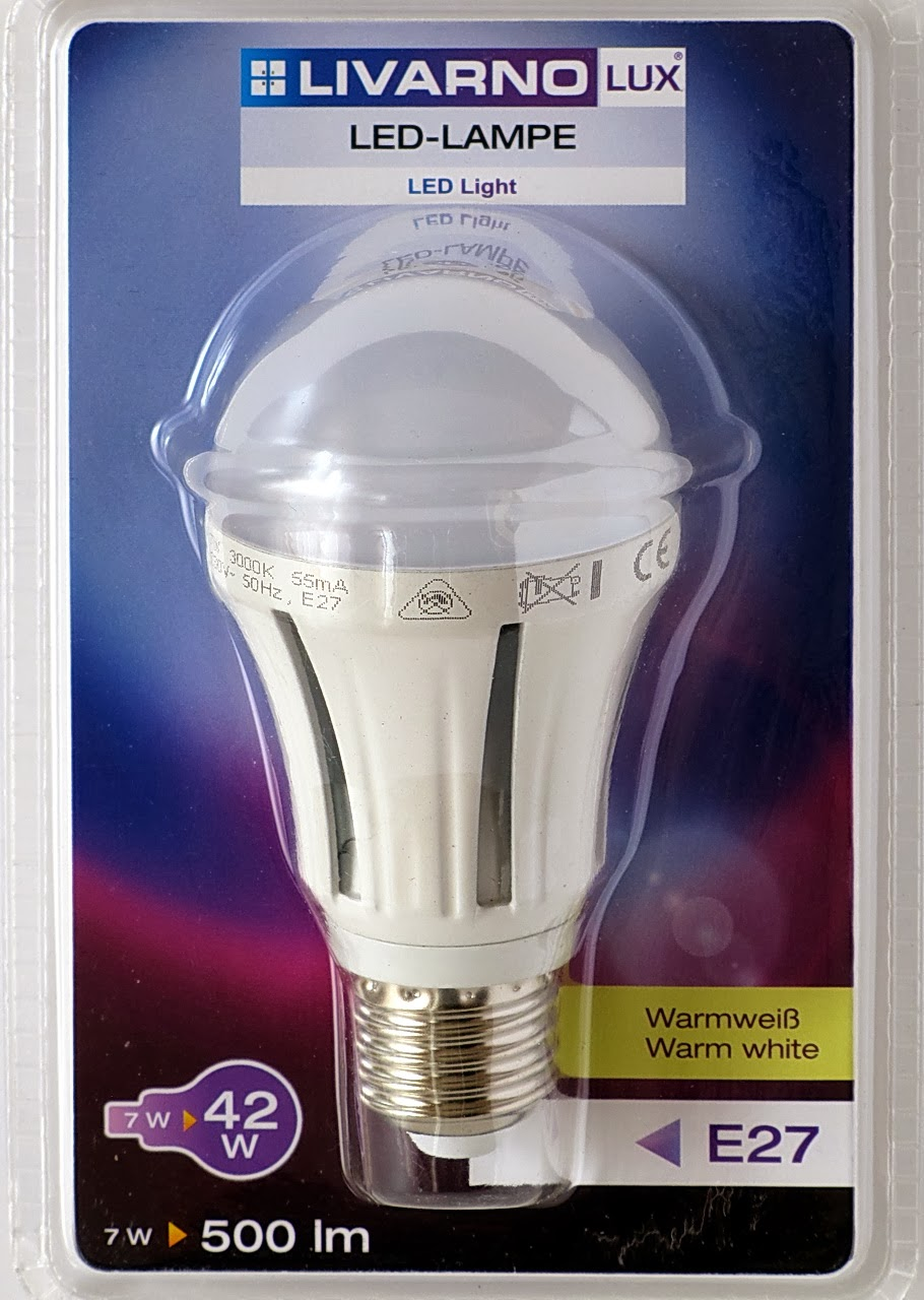 Livarno lux led lamp 7w E27 lidl, Model Z31795A