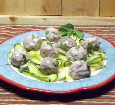Swedish Meatballs with Zucchini Ribbons