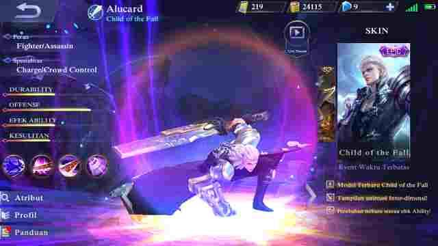 Gear Terkuat Untuk Hero Alucard Mobile Legend Terbaru